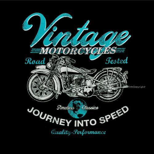Biker Vintage Garage Motorcycle Oldtimer restauration Motorrad T-Shirt #4015 bl