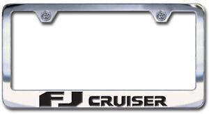 Toyota FJ Cruiser License Plate Frame Engraved Block Letters