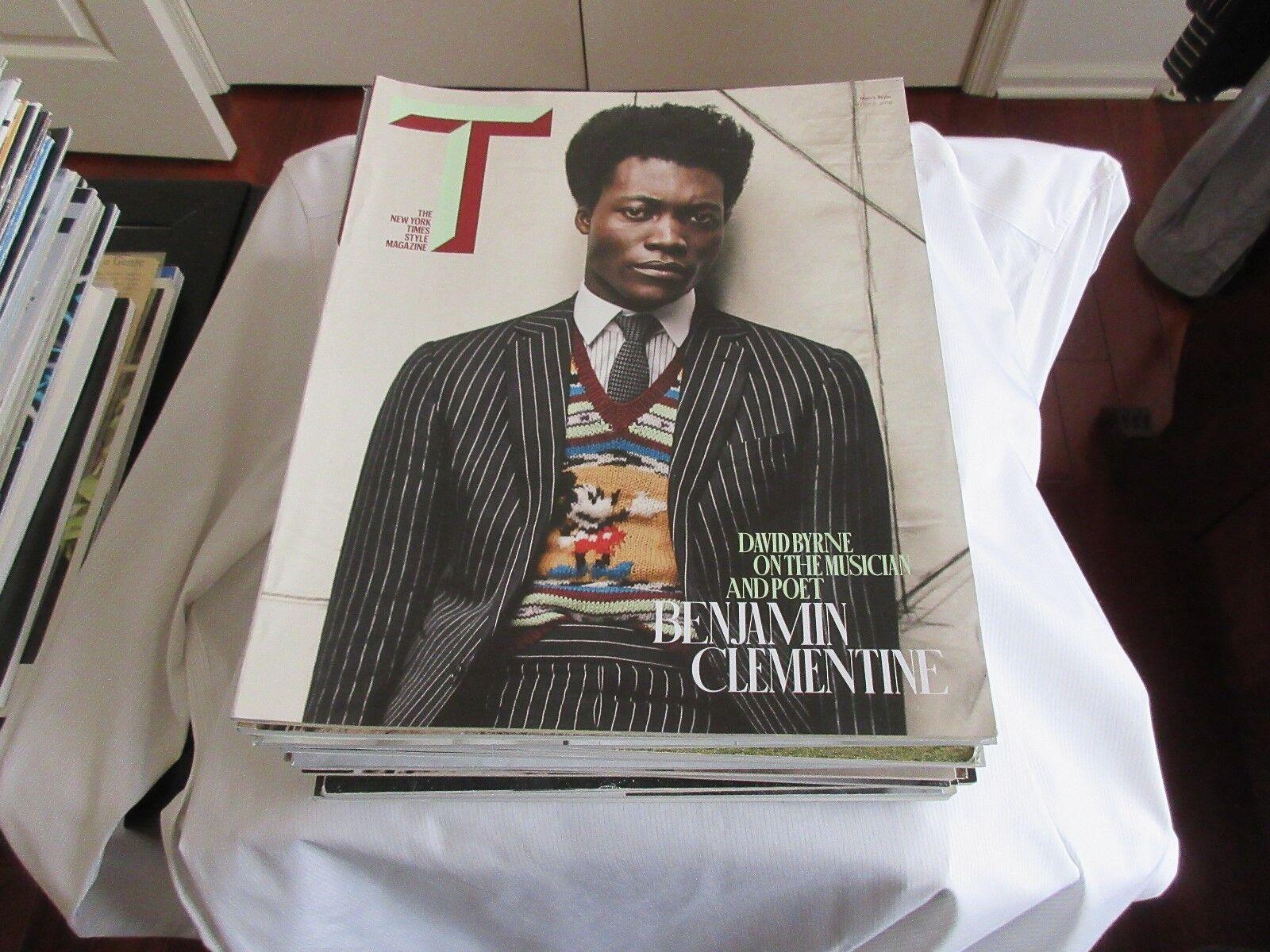Men's Style , New York Times Style Magazine ,Mar. 6 , 2