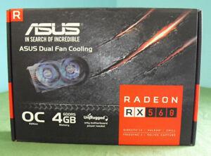 Details about ASUS Radeon RX 560 4GB EVO OC Edition GDDR5 DP HDMI DVI AMD  GPU