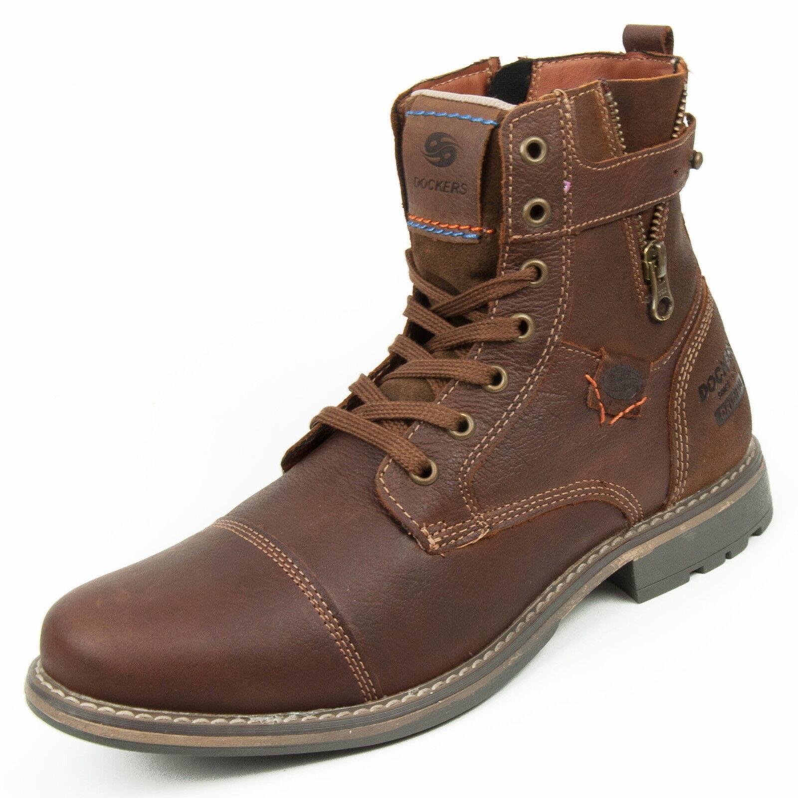 DOCKERS Zapatos Hombre Botas piel marrón (CIERVO) 355223-239051 355223-239051 355223-239051 9fbf1e