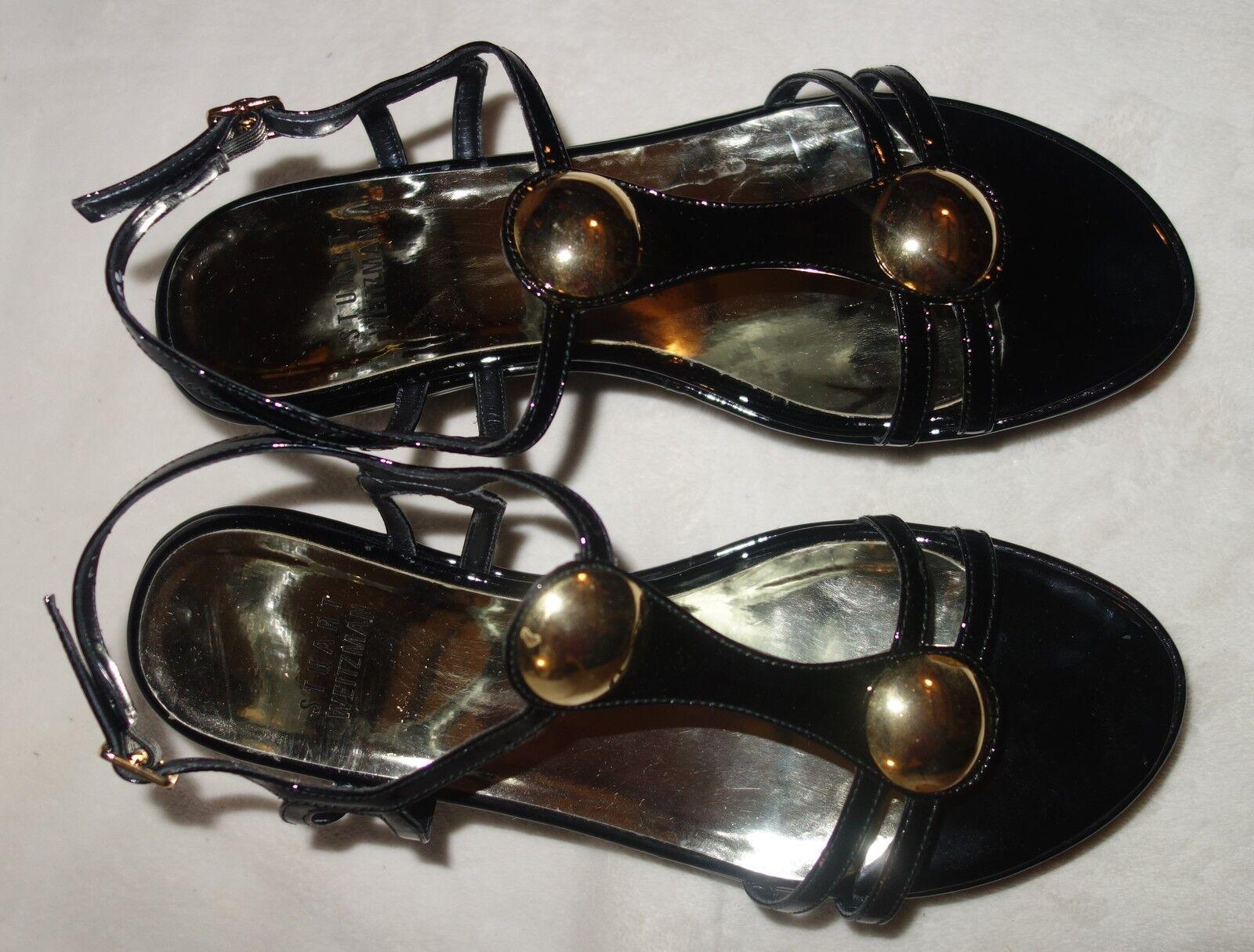 Stuart Weitzman Popup Sandale Soft Patent wedge schuhe sz sz schuhe 36.5 US SZ 6 new 52a963