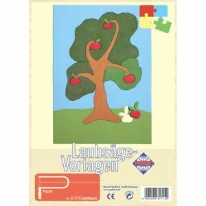 PEBARO-Laubsaegevorlage-Apfelbaum-Puzzle