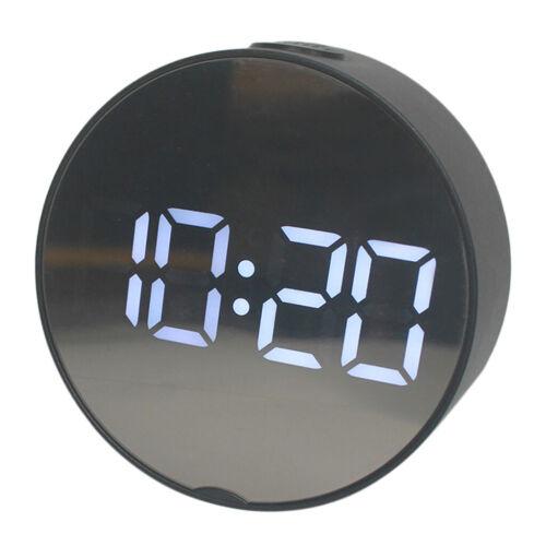 Oval LED Digitaler Wecker Tischuhr Standuhr Tischdeko für Büro Schlafzimmer