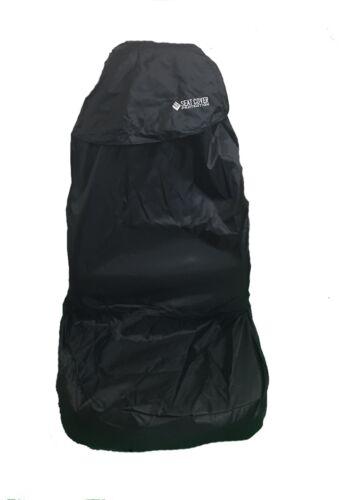 NEW WNB Universal Car Seat Covers Full Set Black Top Black Waterproofed Pair 2