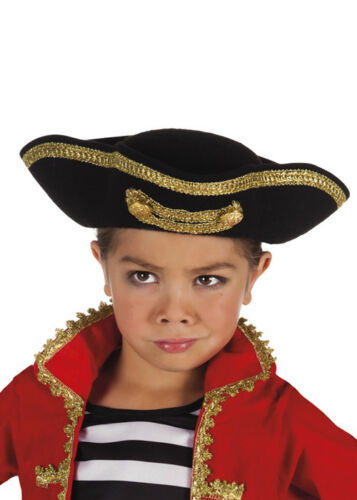 Kids Size Deluxe Pirate Tricorn Hat