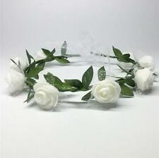 Women's BOHO Style Rose Flower Crown Headband Wedding Floral Garland Hair Band