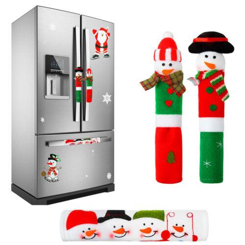 Home Snowman Kitchen Door Refrigerator Oven Handle Cover Christmas