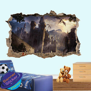 Image Is Loading Dragon Age Castle Knight Smashed Wall Art