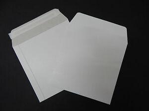 "10 x12"" Record Mailers Envelopes Peel + Seal White Board Vinyl LP 350GSM UK Made"