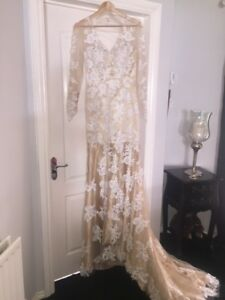 Cream And Gold Wedding Dress Ebay