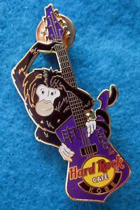 Kobe-Japones-Ano-Del-Mono-Chimpance-Purpura-Guitarra-Hard-Rock-Cafe-Pin-Le
