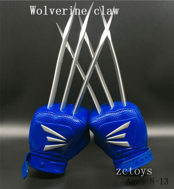 Pair The Wolverine Claws Wolf Paw Cosplay Costume Glove for Kid Ages 8-13