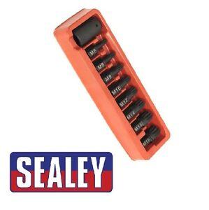 Sealey-Impact-Spline-Bit-amp-Holder-Set-9pc-1-2-034-Sq-Drive-ak5611