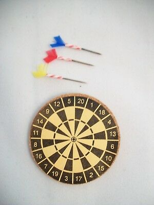 Dollhouse Miniature Dart Board with Darts ~ IM65230