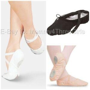 White Canvas Sansha Split Sole Shoes