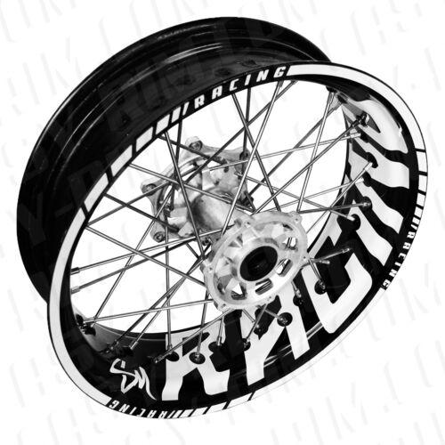 Racing SM Felgenaufkleber Motorrad wheelsticker decal KTM 690 Supermoto weiß