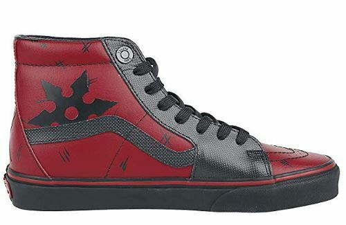 Vans Marvel Sk8-Hi Deadpool Red Black High Top Old Skool