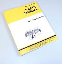Parts Manual For John Deere Van Brunt Fb A Fertilizer Grain Drill Catalog Seed