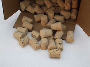 """CORKS Size 6 Large End 3//4/"""" OD Tapered Push-In Round Cork Plugs"""
