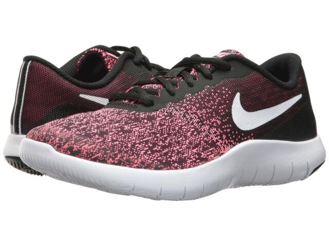 new style 13beb abdf8 Nike FLEX CONTACT (GS) Girls Grade School Black/White-Pink 917937-001 Shoes