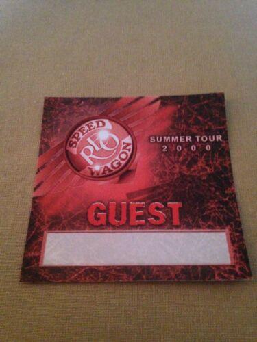 REO Speedwagon Guest Access Pass Summer Tour 2000
