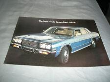 Toyota Crown 2600 Saloon brochure c1975