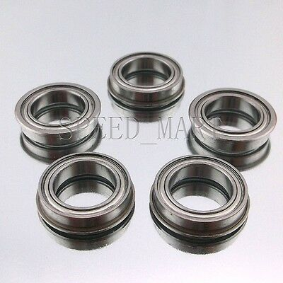 5 x F6901zz Metal Double Shielded  Flanged  Ball Bearings 12mm*24mm*6mm