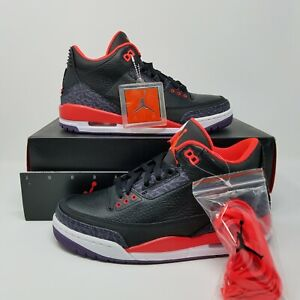 f1c1924fc28ea NEW Nike Air Jordan Retro 3 III Black Bright Crimson Purple SZ 7 ...