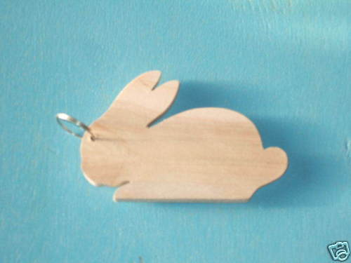 Wooden Key Ring /'Rabbit/'