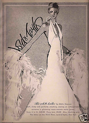 70's Fred Greenhill Illustrated Lord & Taylor Fashion Ad   1973