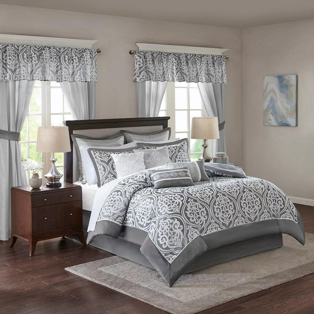 Jordan 24 Piece Room in a Bag by Madison Park Essentials with Curtains, & Sheets