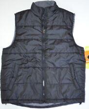 Mens ATHLETECH Black WATER RESISTANT Thick Puffer Windbreaker VEST Jacket Coat S