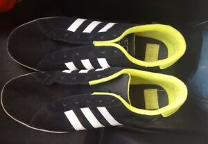 Details about Adidas Neo mens fashion sneakers shoes U44858 SIZE 13 M Black white neon green
