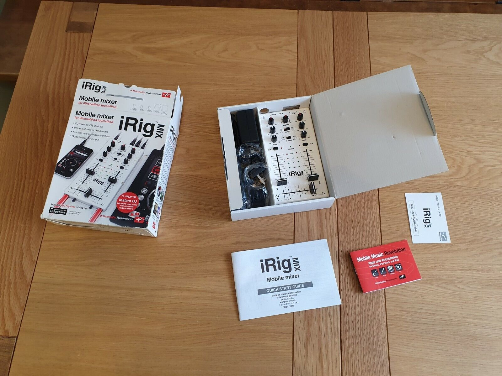 IRig Mix Mobile Mixer for iPhone iPod touch iPad boxed