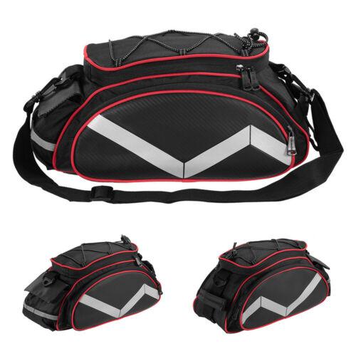 MTB Bike Rear Seat Bag Bicycle Cycling Rack Storage Pouch Pannier Saddle Trunk