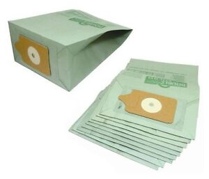 Electruepart 20 Pieces Replacement Vacuum Cleaner Paper Dust Bags for Numatic Henry Hoover - Green