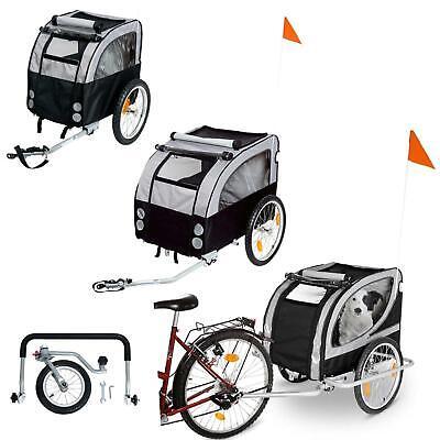 Gut Karlie Doggy Liner Fahrrad Hunde Anhänger Tier Transport Schwarz Grau Jogger Tropf-Trocken