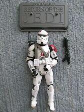 Star Wars Hasbro 2003 Clone Commander NEYO Battle Dirt Saleucami Base & Weapon