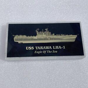 USS TARAWA LHA-1 Navy Paperweight Marble NEW
