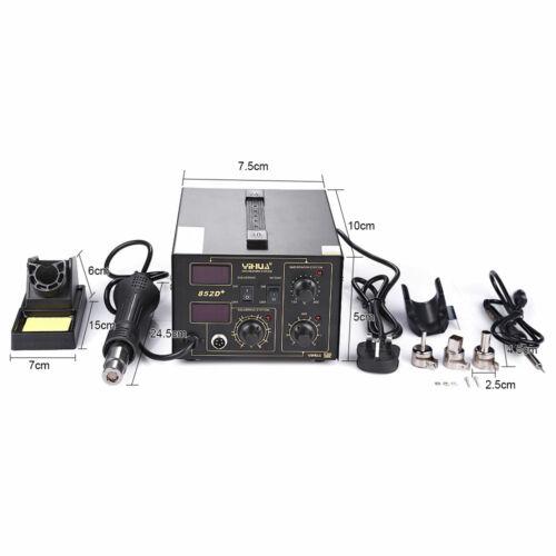 Yihua 700W 2in1 Lötstation Lötkolben Heißluft 240V 480℃ Digital Regelbar 852D+