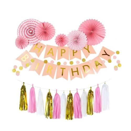 bon anniversaire banderole bannière ballon tirer Couronne mariage Kit décor fête