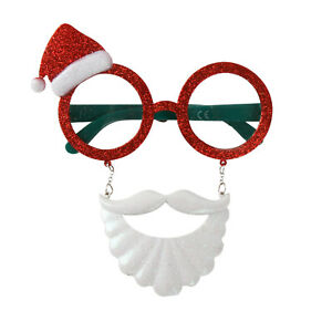 Spassbrille-034-Weihnachtsmann-034-Scherzbrille-Gagbrille-Fasching-Weihnachten-Spass