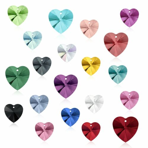 Any Colors 17.5 x 18mm Genuine Swarovski Pendant Heart 6228 Crystal Rhinestone