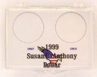 1999 Sba Dollar P & D, 2x3 Snap Lock Coin Holders, 3 Pack