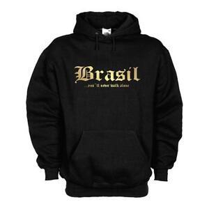 Brasile Never brasiliana da Felpa cappuccio Wms01 Capsule Felpa costume Walk Brasile 12d con bagno Alone EqgddwFt