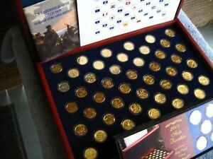 US-Statehood-Quarters-24KT-Gold-Layer-Edition-1999-2008-from-Morgan-Mint-350
