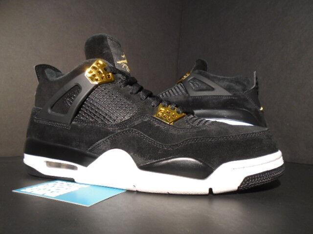 Nike Air Jordan IV 4 Retro ROYALTY OG Noir GOLD blanc CEMENT 308497-032 10.5 Chaussures de sport pour hommes et femmes