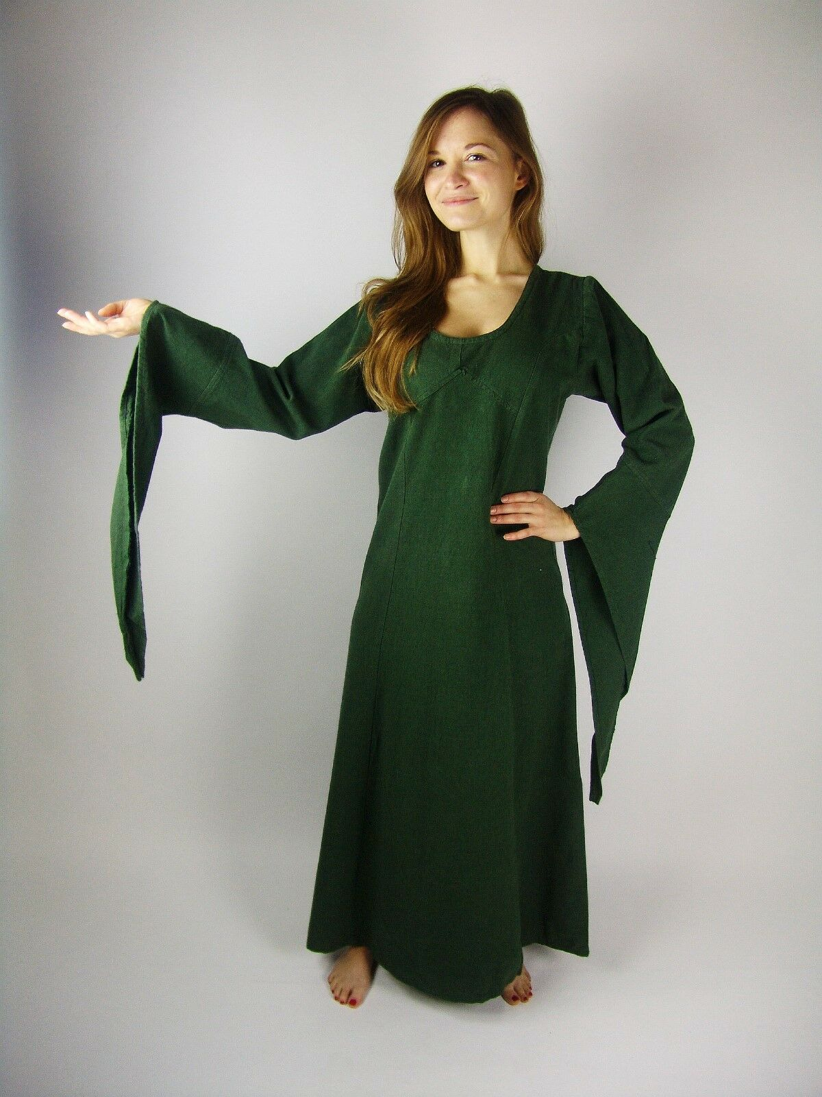 UNTERKLEID grün Kleid Mittelalter Gewandung Kostüm Larp S M L XL XXL XXXL Fee