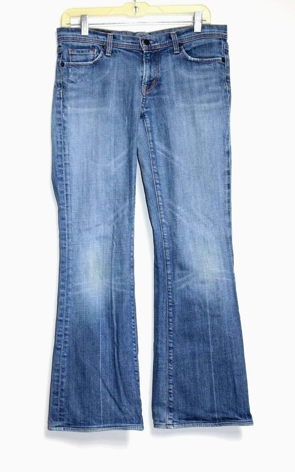 Citizens of Humanity - 30 32 - Medium-bluee Wash Denim Boot Cut Low-Rise Jeans
